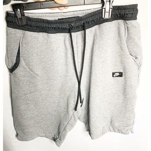 Nike gray sweat shorts L